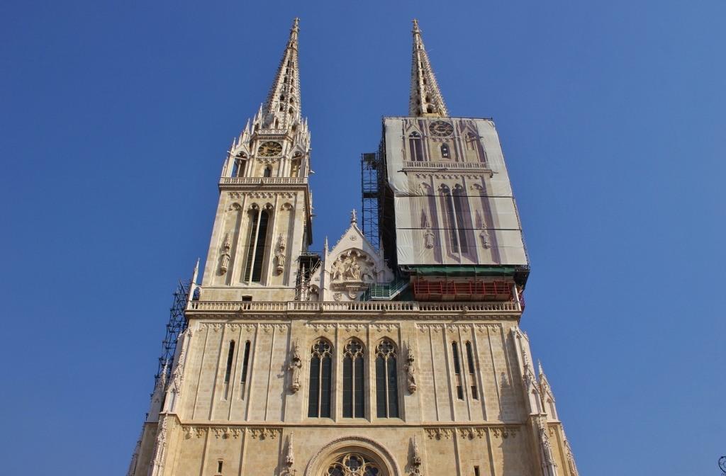 Zagreb Cathedral towers, Zagreb, Croatia