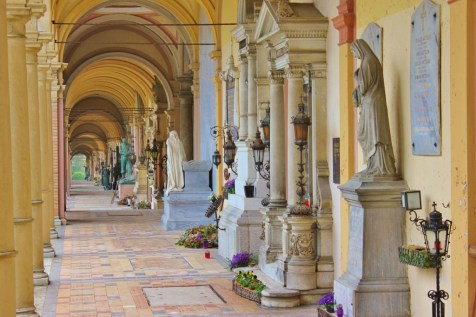 Arcade at Mirogoj Cemetery in Zagreb, Croatia