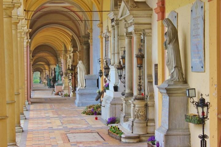 Arcade at Mirogoj Cemetery in Zagreb, Croatia
