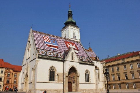 St. Mark's Church Zagreb in Gradec, Zagreb, Croatia