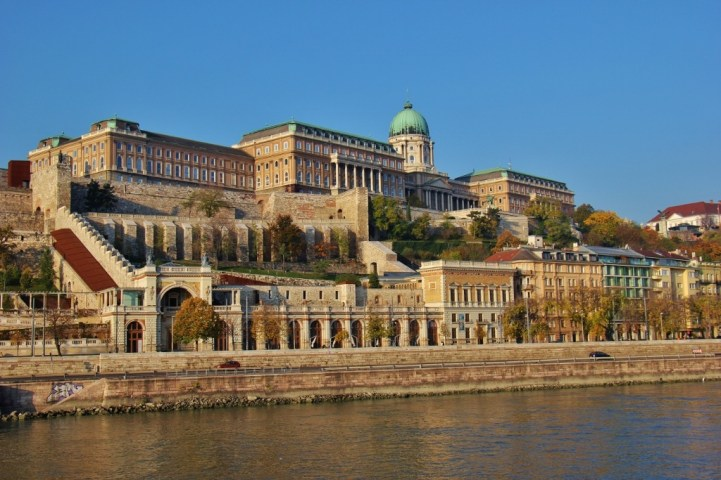 Buda Castle on Castle Hill in Budapest, Hungary