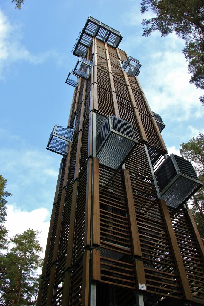 110-foot-tall Dzintaru Panoramic Tower in Jurmala, Latvia