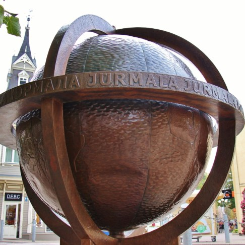 Giant Globe sculpture in Jurmala, Latvia