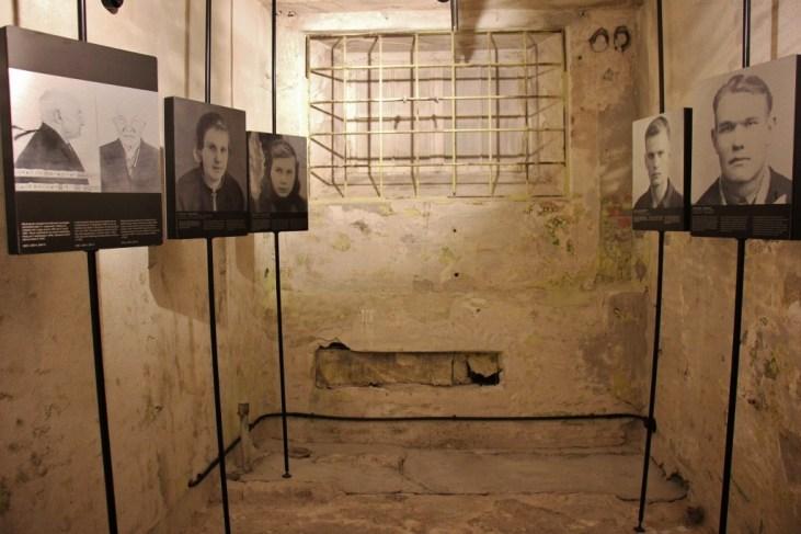 Photographs in KGB Prison Cells in Tallinn, Estonia