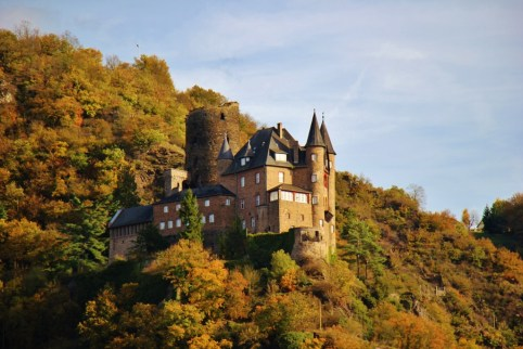 Katz Castle on Romantic Rhine River in Germany
