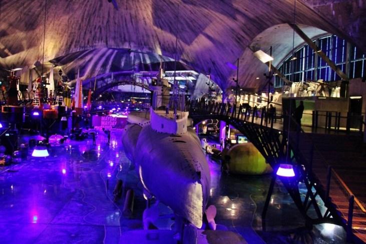 Submarine at Lennusadam Seaplane Harbour Museum in Tallinn, Estonia