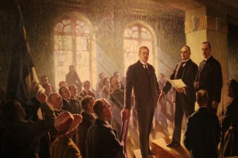Famous painting at Tallinn City Museum in Tallinn, Estonia