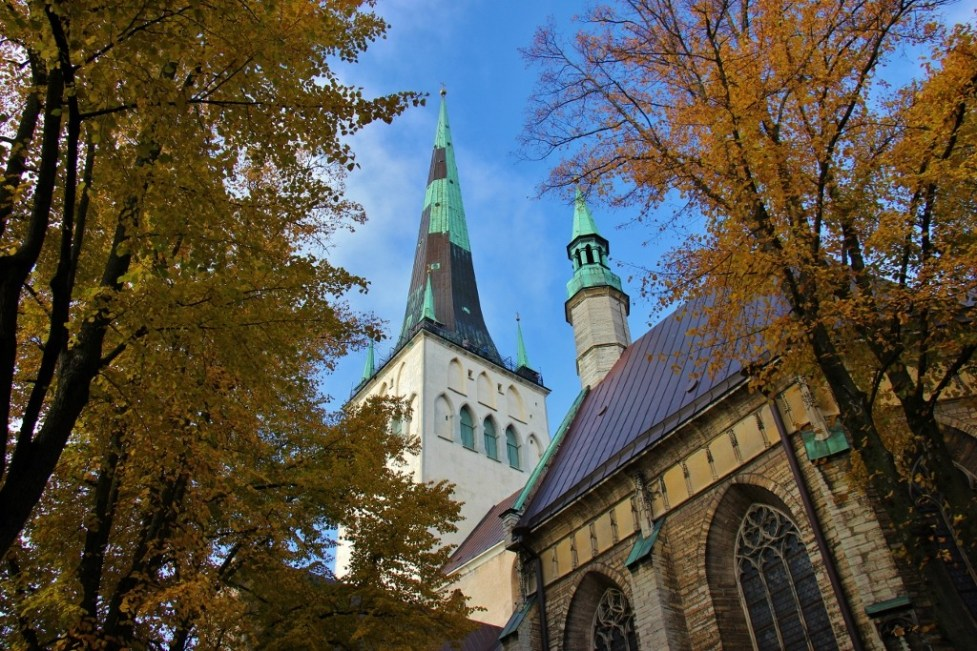 St. Olaf's Church spire in Tallinn, Estonia