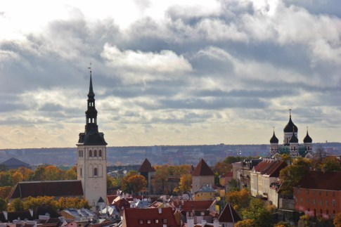 View of Old Town from St. Olaf's Church in Tallinn, Estonia