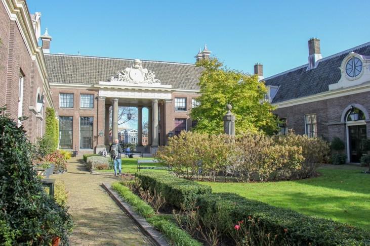 Hofje Garden in Haarlem, Netherlands