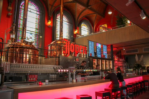 Jopen Brewery, Jopenkerk, in city center Haarlem, Netherlands