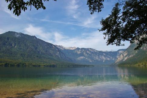 Julian Alps across Lake Bohinj, Slovenia