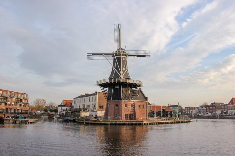 Iconic Molen De Adriaan Windmill in Haarlem, Netherlands