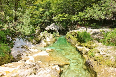 Mostnica Gorge hike at Lake Bohinj, Slovenia