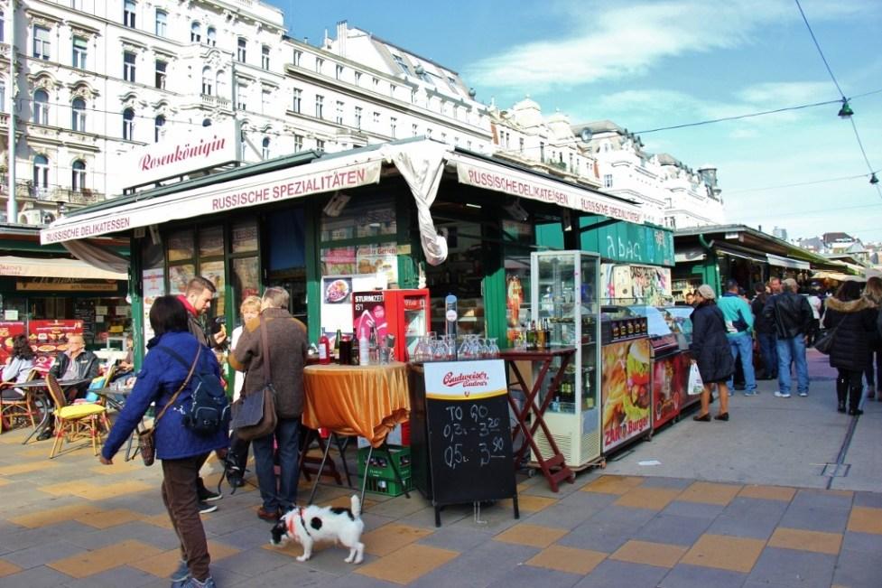 Stalls at Naschmarkt in Vienna, Austria