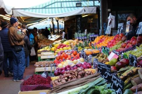 Produce for sale at Naschmarkt in Vienna, Austria