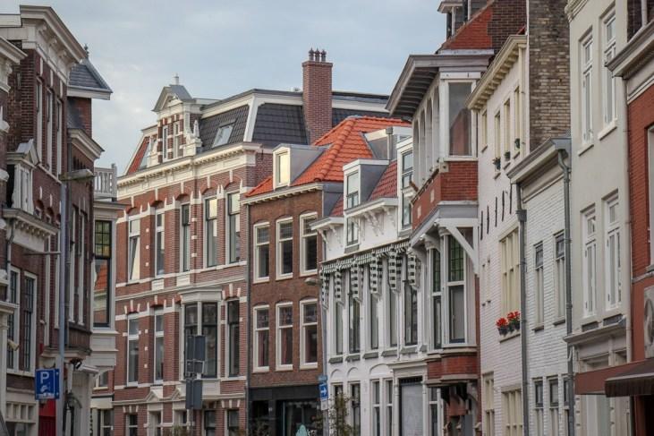 Beautiful street in Haarlem, Netherlands