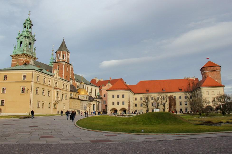 Wawel Castle and courtyard in Krakow, Poland