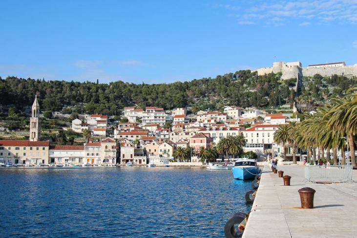 Hvar Town Harbor on Hvar Island, Croatia