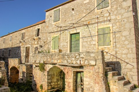 Old Stone House in Mala Rudina in Stari Grad on Hvar Island, Croatia