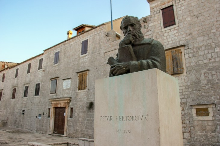 House of Croatian Poet, Tvrdalj Petra Hektorovica in Stari Grad Old Town on Hvar Island, Croatia