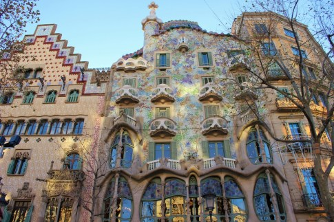 Antoni Gaudi designed Casa Batllo in Barcelona, Spain