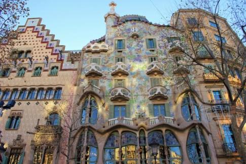 Antoni Gaudi designed Casa Batllo in Barcelona, Spain