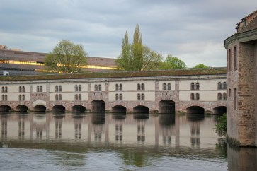 Barrage Vauban dam and viewing platform in Strasbourg, France