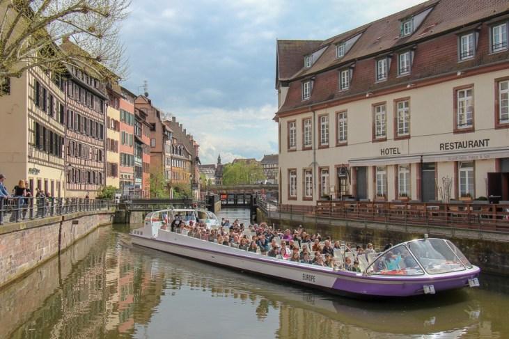 Open air Batorama boat tour in Strasbourg, France