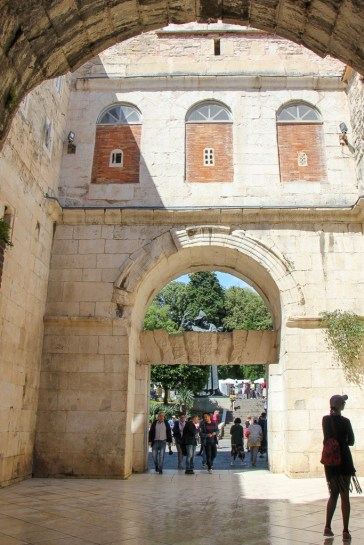 Golden Gate entrance to Diocletian's Palace in Split, Croatia