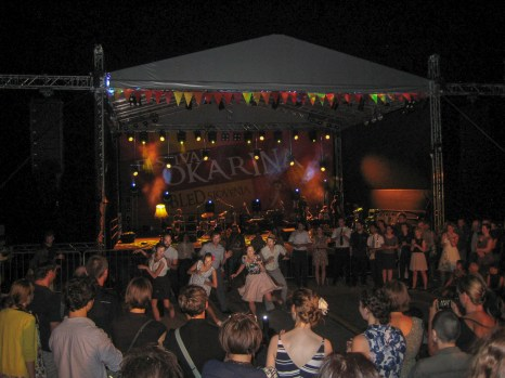 Swing Dancers at festival in Lake Bled, Slovenia