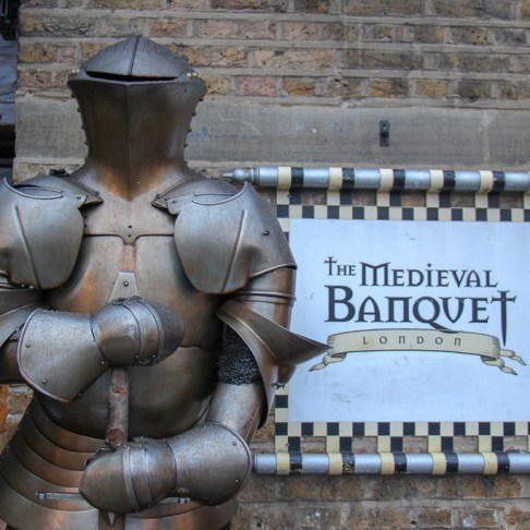 Dining at the Medieval Banquet in London, England