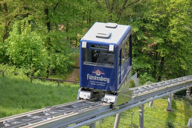 Schlossbergbahn tram to Black Forest in Freiburg, Germany