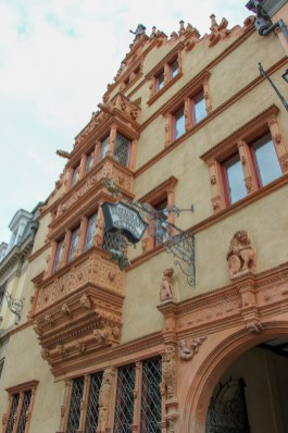 House of Heads facade in Colmar, France