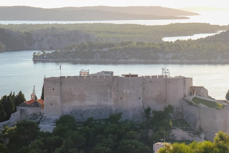 View from above St. Michael Fortress Sibenik
