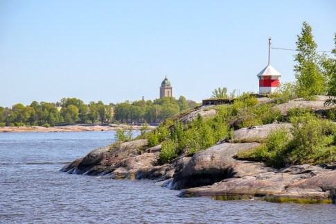 Islands south of mainland in Helsinki, Finland