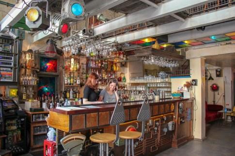 Funky interior of Jozef K Cafe in Gdansk, Poland