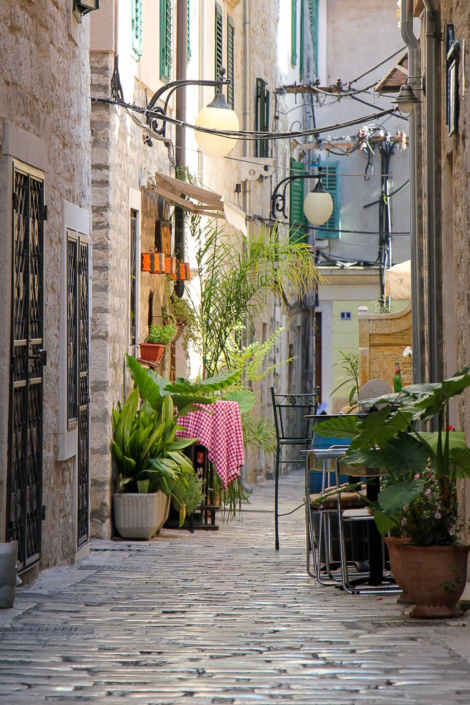 walking the Old Town Lanes, Sibenik, Croatia