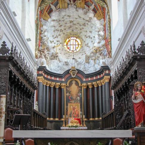Altar at Oliwa Cathedral near Gdansk, Poland