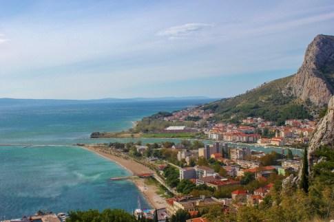 Beautiful view of Omis, Croatia
