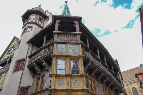 Ornate facade of Pfister House in Old Town Colmar, France