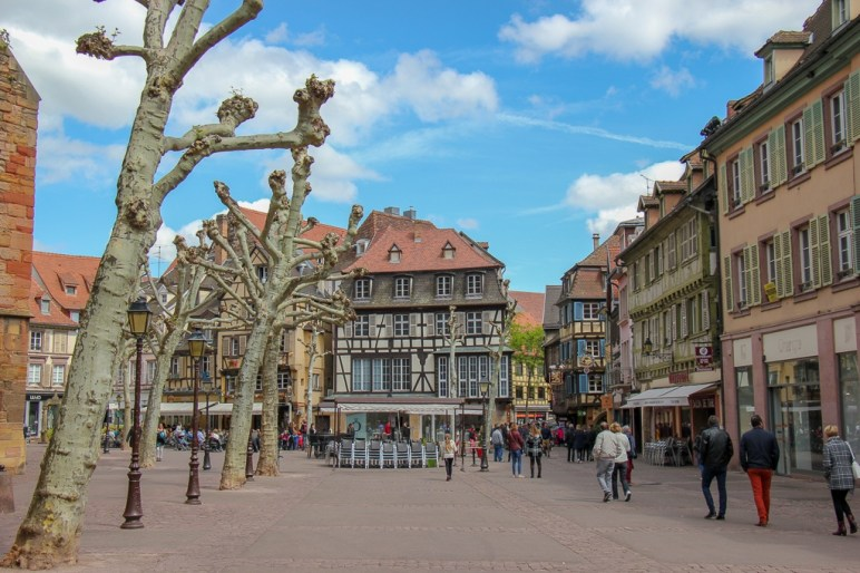 Place de Dominicains in Old Town, Colmar, France