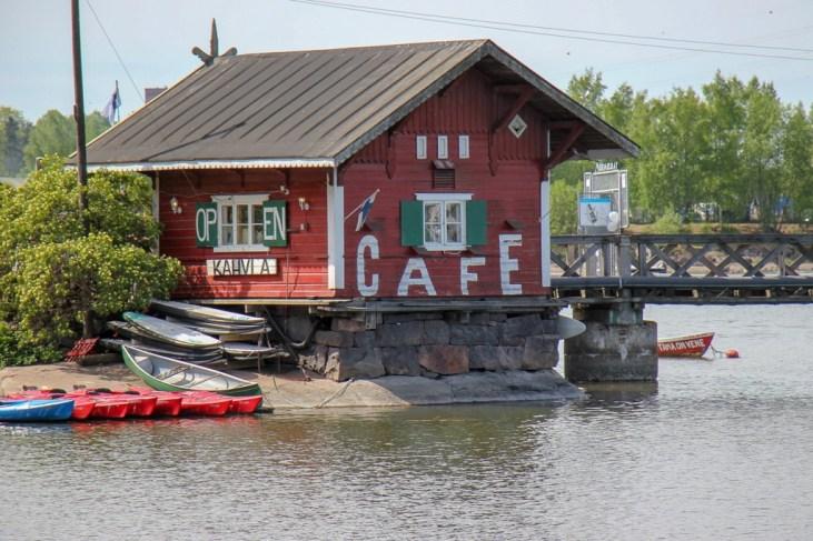 Regatta Cafe on the sea in Helsinki, Finland