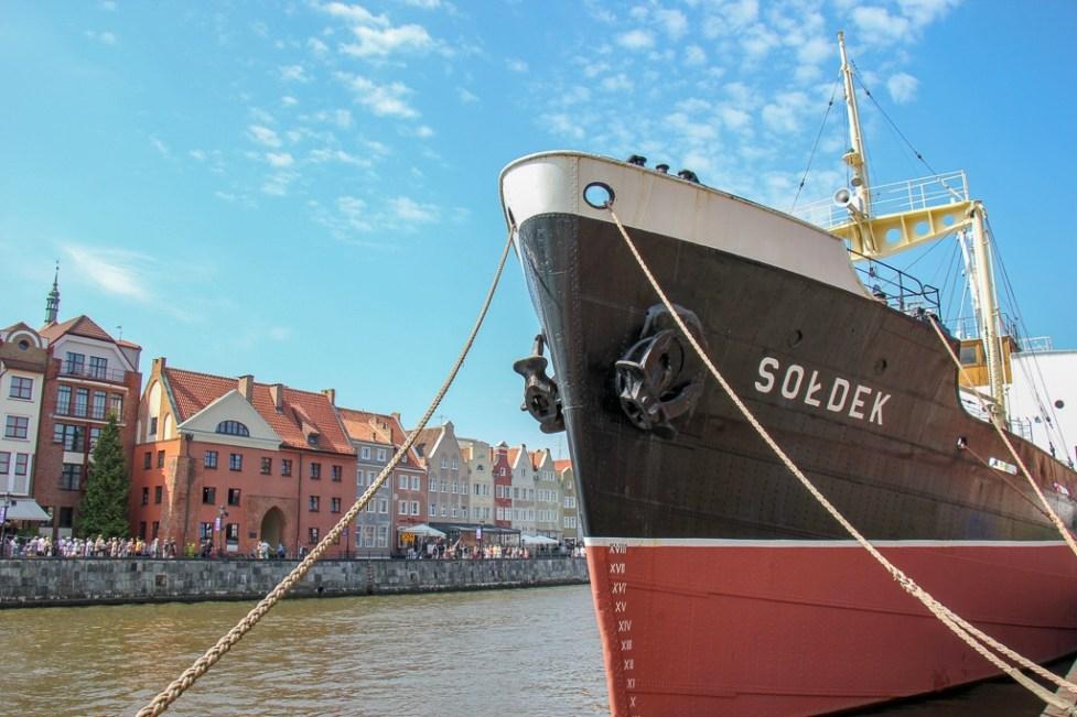 Soldek ship museum in Gdansk, Poland