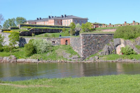 Walls at Suomenlinna Fortress in Helsinki, Finland