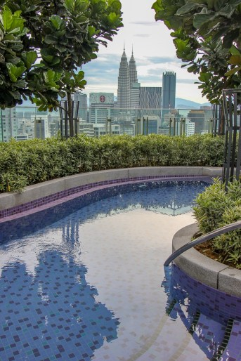 42nd Floor pool views from The Robertson Residences in Kuala Lumpur, Malaysia