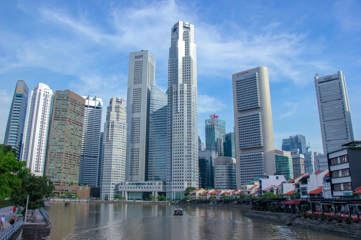 Downtown Singapore and Boat Quay