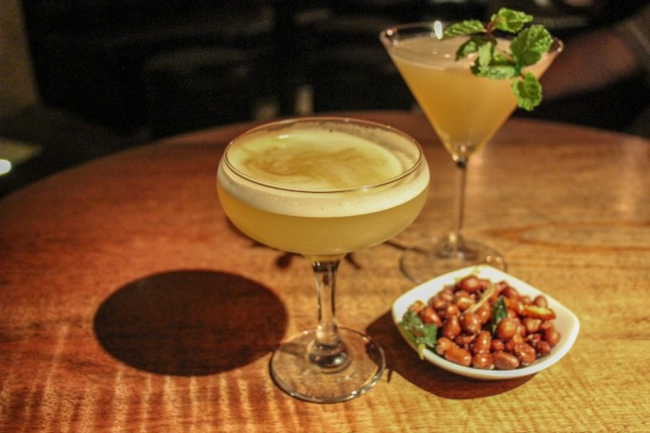 Hand-crafted cocktails at BattBong speakeasy in Phnom Penh, Cambodia