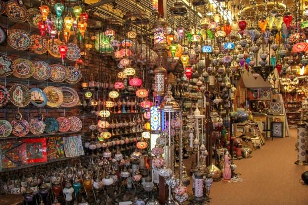 Lamp shop on Arab Street in Kampong Glam Singapore