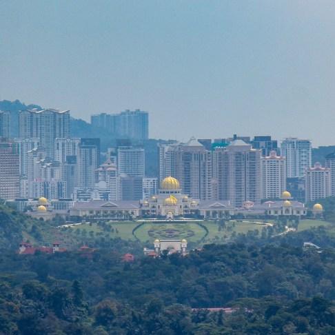 View of the National Palace in Kuala Lumpur, Malaysia